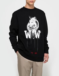 Off White Othelo's Wolf Crewneck Black