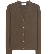 Prada Cashmere And Silk Cardigan Green