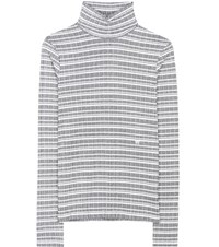 Wood Wood Theresa Cotton Turtleneck Sweater White