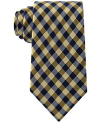 Club Room Men's Gingham Tie Only At Macy's Yellow