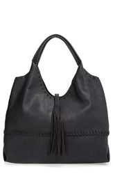 Big Buddha Tassel Faux Leather Hobo Bag