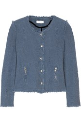 Iro Agnette Cotton Boucle Jacket Storm Blue