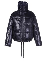 Raf Simons Standing Collar Padded Coat Black