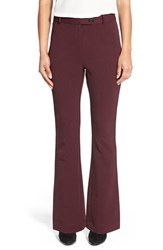 Women's Pink Tartan 'Tech Stretch' Bootcut Pants Oxblood
