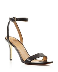 Tory Burch Elana Open Toe High Heel Sandals Black