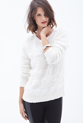 Forever 21 Feather Knit Striped Sweater