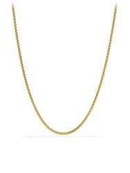 David Yurman Small Box Chain Necklace In Gold