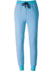 Markus Lupfer Printed Trackpants Blue