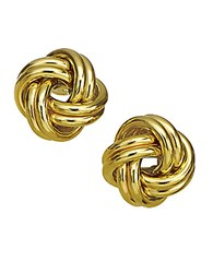 Lord And Taylor 14K Yellow Gold Knot Earrings