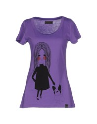 Numph Topwear T Shirts Women Purple
