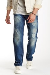 Gilded Age Distressed Straight Leg Jean Blue