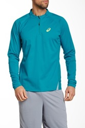 Asics Fuji Trails Half Zip Perforated Pullover Green