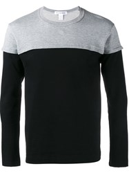 Comme Des Garcons Shirt Colour Block Sweatshirt Black
