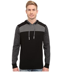 Smartwool Kiva Ridge Striped Hoodie Black Men's Sweatshirt