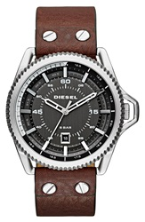 Diesel 'Rollcage' Exposed Watch 46Mm Brown