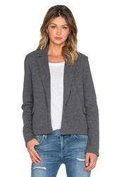 James Perse Cropped Fleece Coat Gray