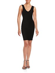 Saks Fifth Avenue Red Sleeveless Bodycon Dress Black
