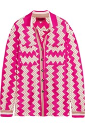 Missoni Crochet Knit Shirt Pink