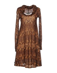 Plein Sud Jeanius Dresses Short Dresses Women Brown