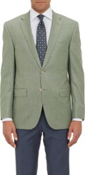 Barneys New York Heathered Two Button Sportcoat Green