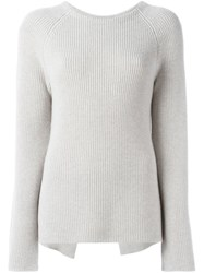 Helmut Lang Ribbed Jumper Nude And Neutrals