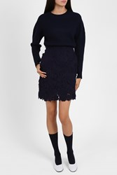 Paul Joe Sister Women S Floral Lace Mini Skirt Boutique1 Navy