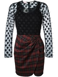 Giamba Plaid Mini Dress Black