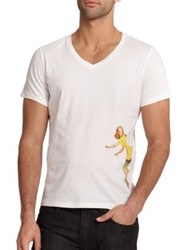 Tee Library Pin Up Girl Tee White