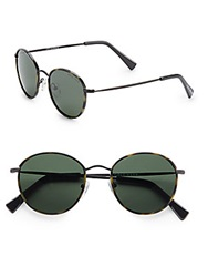 Cole Haan 50Mm Round Sunglasses Tortoise