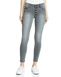 Black Orchid Candice Button Skinny Jeans In Greystone