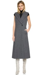 Theory Bolton Tremayah Sleeveless Coat Charcoal