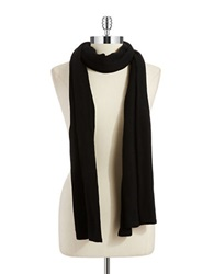 Lord And Taylor Siena Oversized Knit Scarf Black