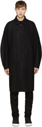 Attachment Black Wool Long Coat