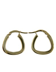 Lord And Taylor Polished Hoop Earrings In 14K White Gold