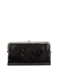 Hobo Lauren Patent Leather Wallet Black