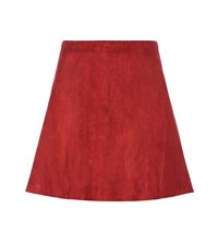 Stouls Swing Suede Skirt Red
