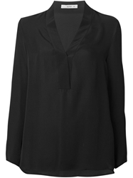 Etro Loose Crepe Blouse Black