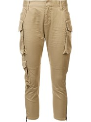 Dsquared2 Cropped Slim Cargo Trousers Brown