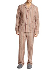 Paul Smith Striped Cotton Pajama Set Red Multi
