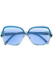 Yves Saint Laurent Vintage Oversized Frame Sunglasses Blue
