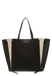 Anna Field Tote Bag Black Creme