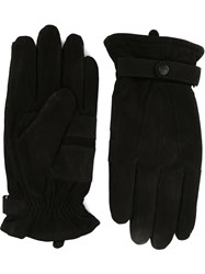 Barbour Buttoned Strap Gloves Black