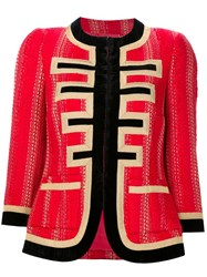 Givenchy Lurex Tweed Jacket Red