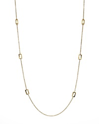 Ippolita Gold Rectangle Station Necklace 40'L