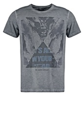 One Green Elephant Grand Print Tshirt Cement Grey Dark Gray