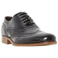 Bertie Rogue Patent Leather Brogues Black