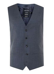 Topman Limited Edition Navy Skinny Fit Suit Waistcoat Blue
