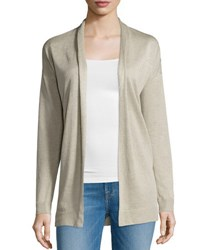 Theory Armelle S Sag Harbor Open Front Cardigan Natural Linen