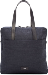 Closed Navy Denim And Leather Tote