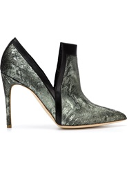 Rupert Sanderson Pointed Toe Stiletto Booties Green